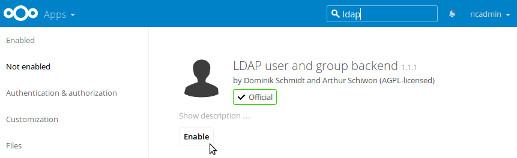 Activer LDAP