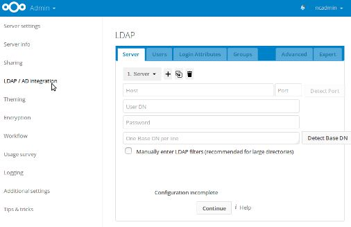Configurer LDAP
