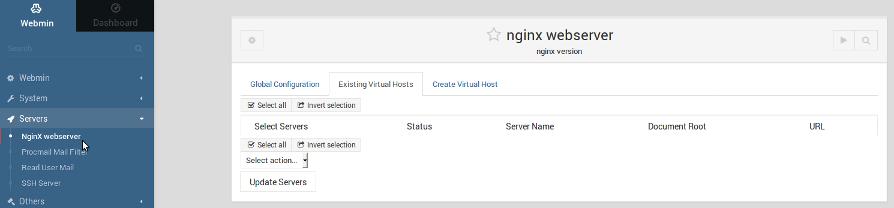 Webmin: Nginx Webserver