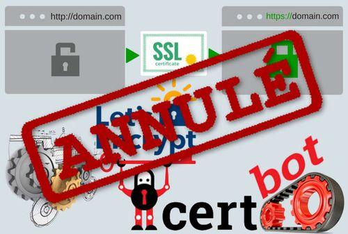 Annuler Certificat Let's Encrypt